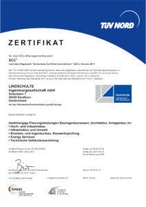 LINDSCHULTE ist SCC-zertifiziert.
